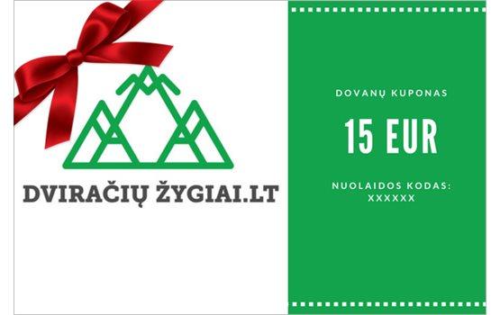 15 EUR dovanų kuponas
