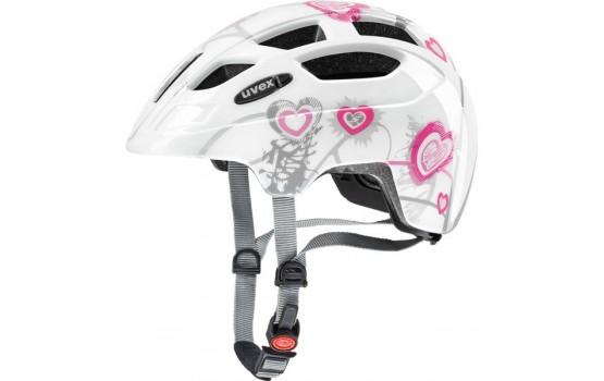Šalmas Uvex Finale Junior heart white pink